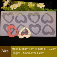 Wholesale 8 Holes Love Heart Shape Chocolate Plugin Mould Silicone Baking Mould for Cake Decoration Bake Moulds for Parties and Celebrations White
