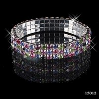 bead bar beads - Hot Sale Popular New Style Jewelry Row Multi stone Crystal Bangle Fashion Charm Bracelets for girls