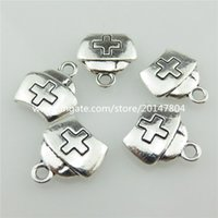 medicine cabinet - 20476 X Vintage Silver Alloy First aid Case Medicine Cabinet Pendant Findings