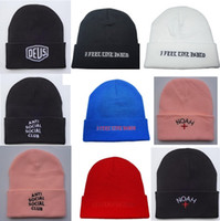 acrylic felt - Noah Clothing Nyc Kanye West I Feel Like Pablo Anti Social Social Club Travi Scott Deus Hip Hop Beanies