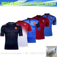 Wholesale NEW Zealand France Rugby jersey one two team ALL BLACKS RWC Super RUGBYNRL the star premiership Queensland rugby jerseys Shirts