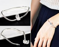 Wholesale Hot sale Sterling Silver Snake Chain Fit European Beads Charm Bracelet Hot Sale inch