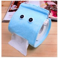 Wholesale Colorful tissue pull cute cloth towel box box Home Furnishing Plush meal paper toilet paper extraction