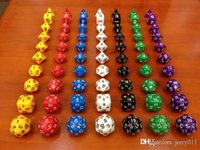 Wholesale Dungeons and Dragons Game MM D4 D6 D8 D10 D12 D20 D24 D30 Crystal Dice for Game D D dice set with bag one set