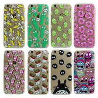 banana phone cover - Luxury Soft TPU D Cute Cartoon Eyes Move Mouse Cat French Fries Banana Popcorn Phone Case Cover For iPhone S Plus S SE MOQ