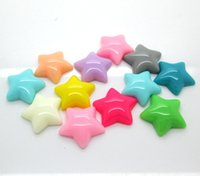 Wholesale 100pcs Resin Star Beads Flatback Cabochon Scrapbook Fit DIY Phone Decoration