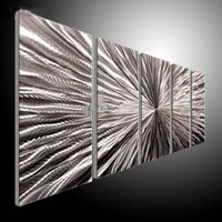 Wholesale Metal Wall Art Abstract Contemporary Sculpture Home Decor Modern Huge Explosion B metal wall