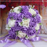 accent rose - 2016 Beautiful Handmade Flowers Decorative Artificial Rose Flowers Pearls Bride Bridal Lace Accents Wedding Bouquets Colors