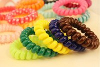 Wholesale Hair Accessories Headband Telephone Cord Elastic Hair Band Ponytail Holders Hair Ring Rubber Bands Hair Tie Ring Hair Seting Tools