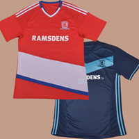 Wholesale 2016 Middlesbrough Home Red Away Blue Football Soccer Jerseys Shirt