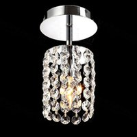 Wholesale Corridor lamp small crystal droplight Single head dome light balcony lamp hallway lights LED small porch lights