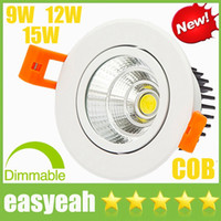 Wholesale High Grade CREE W W W Dimmable COB LED Downlights V V Tiltable Fixture Recessed Ceiling Down Lights Lamps Warm Cool Natural white