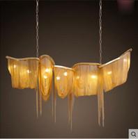 Wholesale lighting modern luxury chandelier aluminum metal tassel chandelier chandelier double Villa Club Lobby Hotel