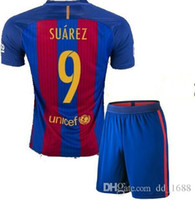 Wholesale AAA adult Coat pants kit t shirts futbol shirts BARCELONAES JORDI ALBA SUAREZ BUSQUETS MESSI Jersey