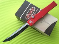 Wholesale Microtech Marfione Custom Halo V Tanto Knife quot Two Tone CNC D2 steel Black Not Elmax Tactical knives with box Full size