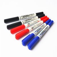 Wholesale 36 Dual side color marker pen SIMBALION permanent markers DIY Stationery Office accessories School supplies