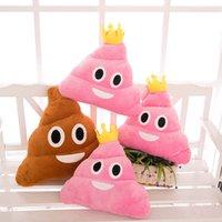 Wholesale Poo Shape Emoji Expression Pillow Cute Funny Emoji Cushion Poo Shape Toy Pillow Stuffed Plush Doll Pillow