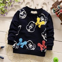 Wholesale baby boy clothes new spring long sleeve Mickey boys hoodies child fashion outerwear Sweatshirts kids coat
