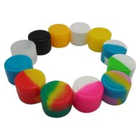 Wholesale 2ml Mini Silicone Jars Dab Wax Container Silicone Round Container For Wax Oil Dab Bho Vaporizer Concentrate