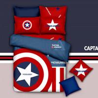 kids cartoon bedding set - Brand New Captain America Red Bedding Set Cotton King Queen Twin Kids Cartoon Duvet Copver Set Bedset