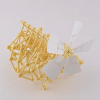 Wholesale DIY Creature Puzzle Wind Powered Walker Strandbeest Assembly Powerful model Kits Toy Children Gift Hot