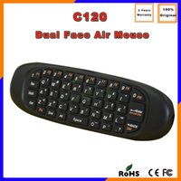 air canada shipping - Canada DHL Free Ship C120 Ghz Wireless Keyboard Remote Control MINI Fly Air Mouse QWERTY keyboard mouse For Android TV BOX
