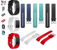 al por mayor pulseras precio más bajo-El precio más bajo Para la pulsera de la pulsera del ritmo cardíaco de la carga 2 de Fitbit la correa de correa usable para la venda del reemplazo del silicón de la carga 2 de Fitbit