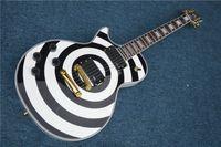 beginner guitar kits - The high quality of the LP custom make Wylde signature white black custom guitar left hand electric guitar kit