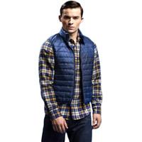 Wholesale Fall Mens Jacket Sleeveless Vest Casual Coats Winter Hooded Cotton Padded Man Vests Waistcoat MW4820623