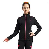 Wholesale Cycling Jackets SANTIC New Bicycle Women s Riding Thermal Jacket Muse Bike Cycling Long Jersey UV Protection Fleece Keep Warm Black
