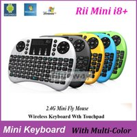 Wholesale Original Rii I8 Mini Keyboard G Wireless Air Mouse Remote Control Qwerty Touchpad for MXQ Pro S905X S912 TV BOX PC p
