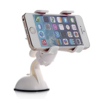 Wholesale Newest Hot Degrees Car Mobile Phone Holder Dashboard Mobile Mount Car Kit Double Clips Holder GPS Car Mount Pieces