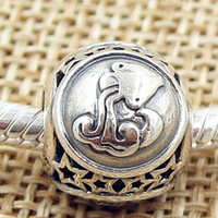 Metals aquarius beads - 2016 Autumn Sterling Silver Aquarius Star Sign Charm Bead Fit European Style Jewelry Bracelets Necklaces Pendant