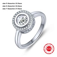 anniversary gemstones - 2016 NEW Sterling Silver Engagement Ring For Women Wedding Round Cut White CZ Anniversary gemstone rings DL66820A