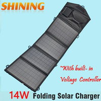 battery charging backpack - 14W V Outdoor Solar Panel USB Charger Battery Power Bank Folding Solar Charging Bag For Moible Phone Camping Travel Backpacks