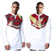 african print shirt - Autumn New Style African Print t Shirt Long Sleeve Casual Tops Men Dashiki Print Shirt Plus Size African Clothing WYN192