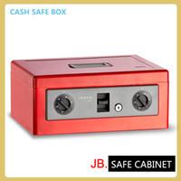 Wholesale JB Hot Safe Small Coin Piggy Bank Metal Saving Money Box Black Cash Money Box With Locks Tirelire Banco Monedas