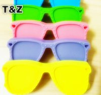 Wholesale new of Large sunglasses teether Pendants for Food Grade Silicone Teething Necklace