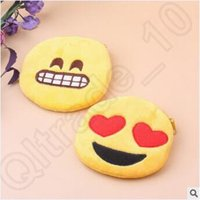 Wholesale 1000pcs CCA1971 Vintage Hot QQ expression Coin Purses New Emoji Coin Purses Cartoon Mini Wallet Ladies Fashion Cute Small Zipper Totes