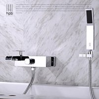 Wholesale Han Pai Brass Waterfall Bathroom Hot And Cold Water Bathtub Mixer Rotary Shower Faucet torneira banheiro HP5007
