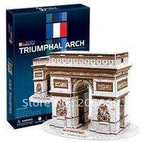 arches paper - Original cubicfun D puzzle paper model stereo DIY toy C045H France Triumphal Arch New Gift
