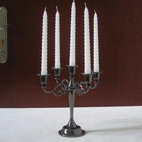 Wholesale classic arm metal centerpiece candelabra candelabrum candlestick candle holder set for home decoration black