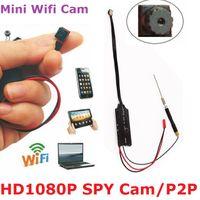 auto surveillance cameras - New Wifi REAL P HD SPY CAM HIDDEN CAMERA Smartphone Surveillance Auto Record Free DHL Shipping Factory price
