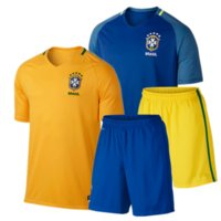 Wholesale Thailand Quality Copa America Brazil national uniform home away jersey Neymar short sleeves suit