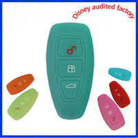 Wholesale Silicone Key Case Ford - Car Accessories Key Case Key Bag Key Cover For Ford Mondeo Silicone Key Portect Case 1pc per set Factory Price