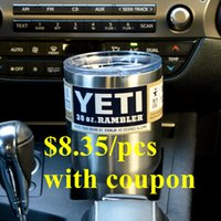 coupons - 2016 Hot Sale Yeti Cup Rambler Tumbler Stainless Steel Mugs ml Vehicle Stainless Steel Vehicle for order with coupon
