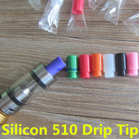 assorted rainbow - 510 Disposable Silicone Mouthpiece Drip Tips For E Cigs Assorted Acrylic Rainbow Cartridges Cover Caps Tip For Subtank Arctic Atlantis