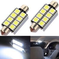 Wholesale 42mm SMD LED Pure White Car Festoon Bulbs Map Interior Dome Light V Automobile Lamp