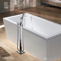 Wholesale Han Pai Floor Mounted Brass Bathroom Hot and Cold Water torneira Shower Bath Mixer Faucet Set torneira banheiro HP5104