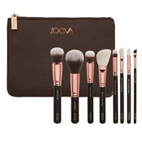 Wholesale Brand New ZOEVA Rose Golden piece Luxurious Makeup Brushes Set Brush Clutch Bag